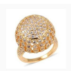Jewelry - Simulated White Diamond Gold tone Ring